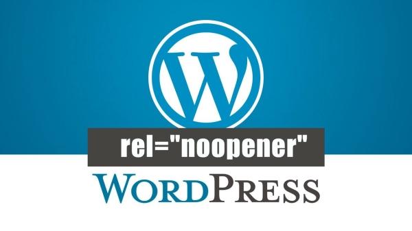rel noopener on WordPress